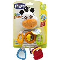 Chicco First Activities Mr Zebra Plush Rattle, Mixed