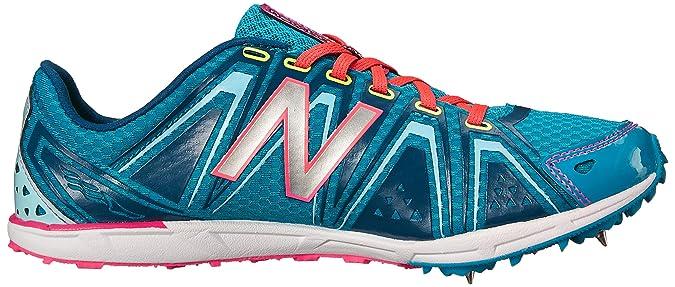 New Balance Women's WXC700 Spike Running Shoe, Blue/Pink, 10.5 B US