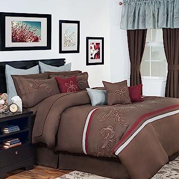 Amazon.com: Lavish Home 24-Piece Briella Bed-in-a-Bag Bedroom Set ...