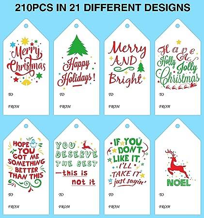 amazon com jollylife 210pcs christmas tags supplies xmas gift
