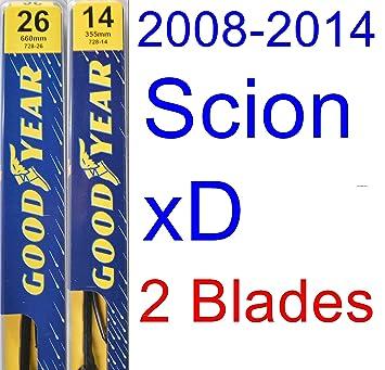 2008 - 2014 Scion xD hoja de limpiaparabrisas de repuesto Set/Kit (Goodyear limpiaparabrisas blades-premium) (2009,2010,2011,2012,2013): Amazon.es: Coche y ...