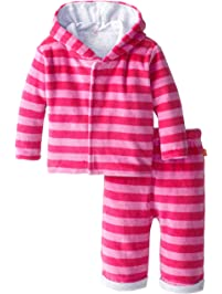 Magnificent Baby Baby-Girls Infant Berry Velour Hoodie and Pants