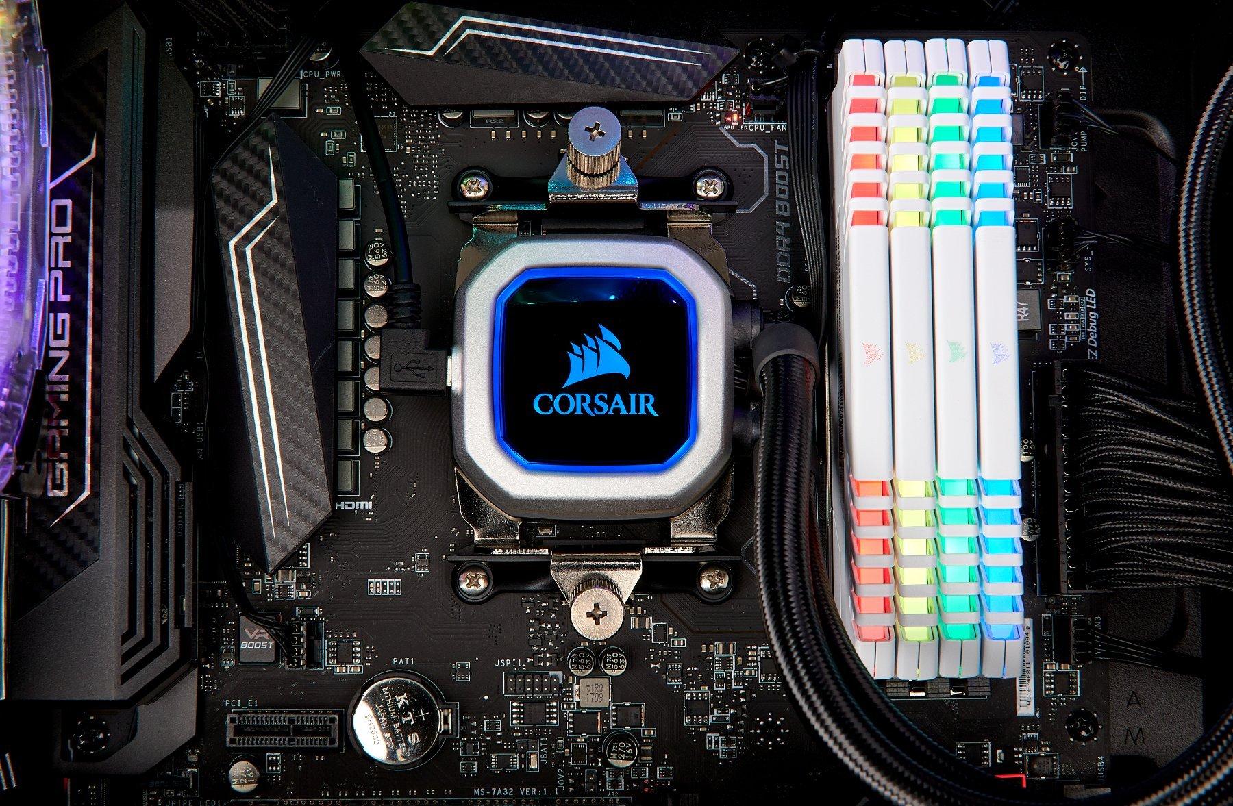 CORSAIR HYDRO Series H100i PRO RGB AIO Liquid CPU Cooler, 240mm, Dual ML120 PWM Fans, Intel 115x/2066, AMD AM4 by Corsair (Image #17)
