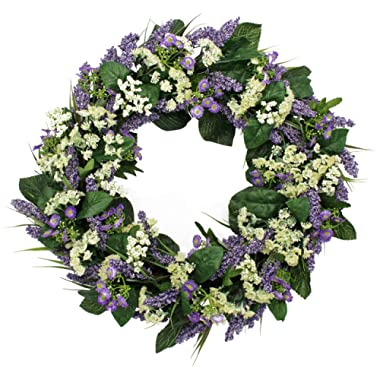 The Wreath Depot Bishops Lace Spring Front Door Wreath, 22 Inches