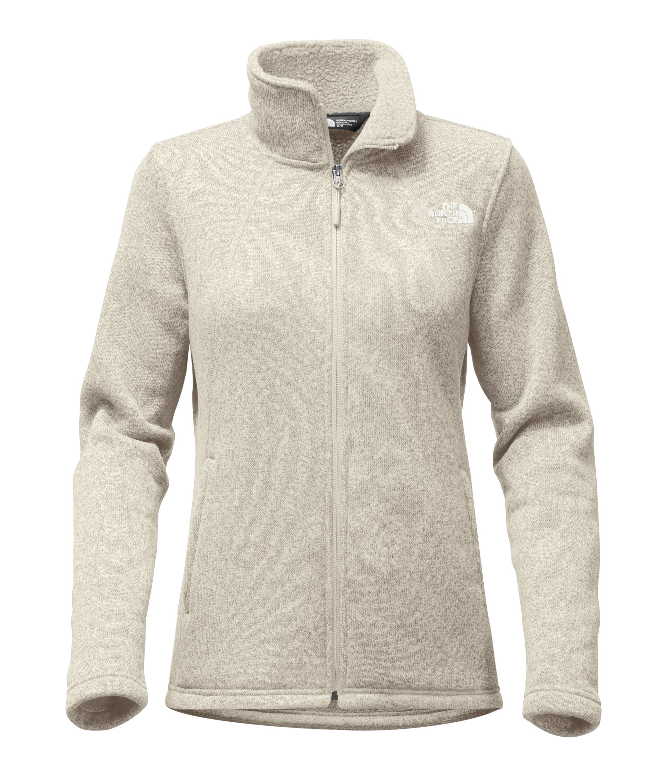The North Face Womens Crescent Full Zip - Wild Oat Heather - M