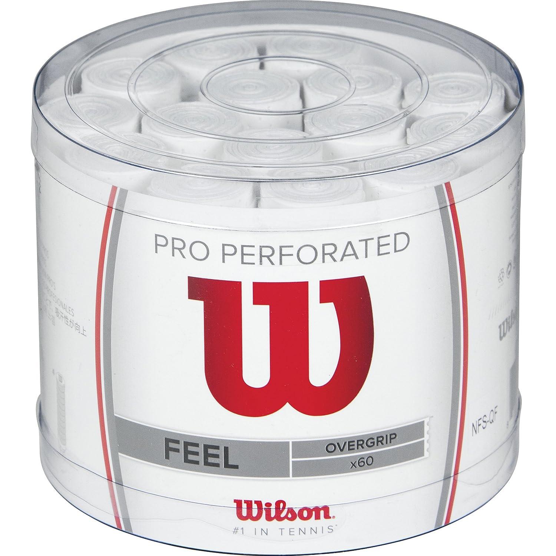 Wilson Pro WRZ4008WH Confezione da 60 Grip, Unisex – Adulto, Bianco, Taglia Unica Unisex - Adulto