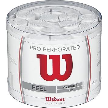 Wilson Pro OG Perf Bucket 60 WH Overgrip, Unisex, Blanco, Talla Única: Amazon.es: Deportes y aire libre