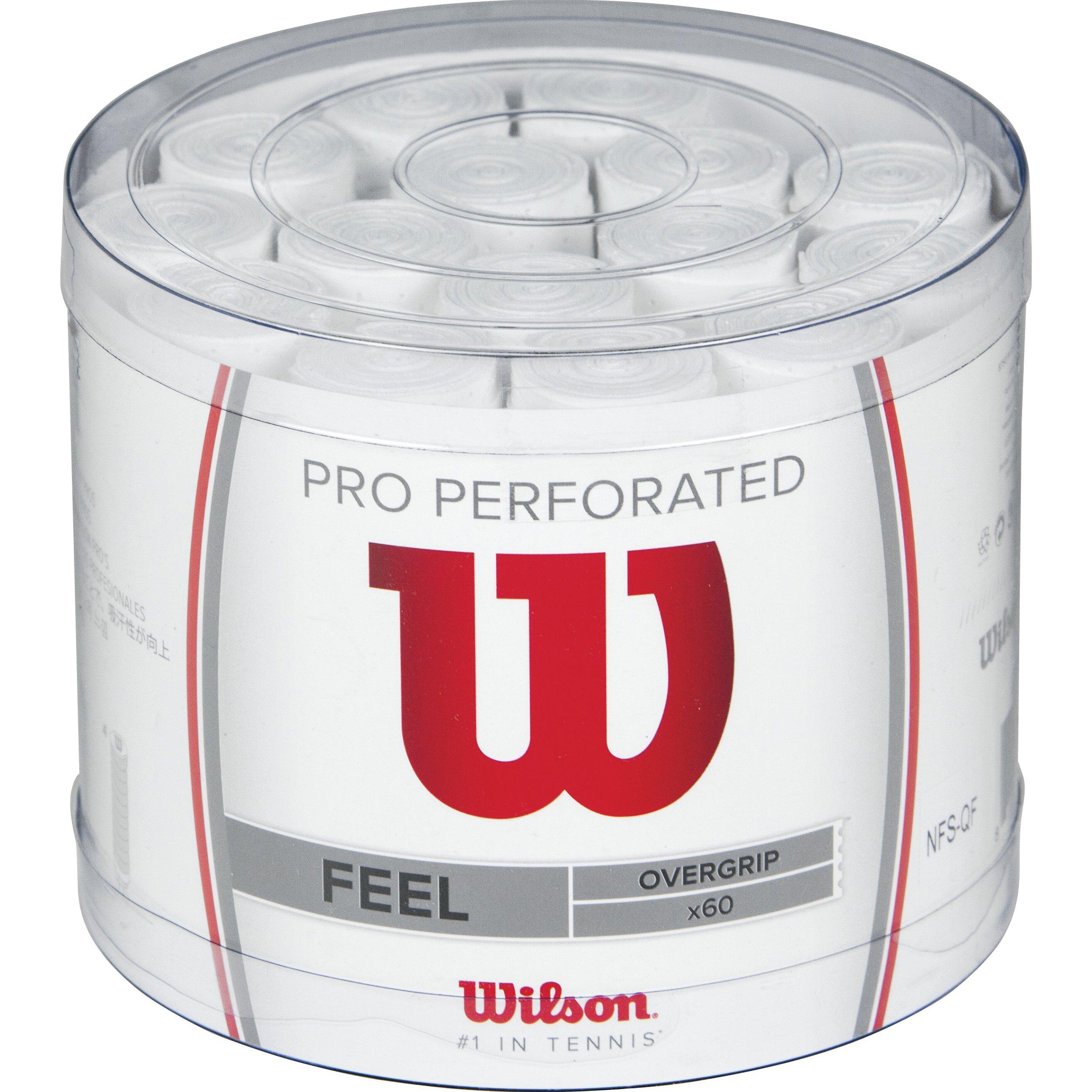 Wilson Pro OG Perf Bucket 60 WH Overgrip, Unisex, Blanco, Talla Única product