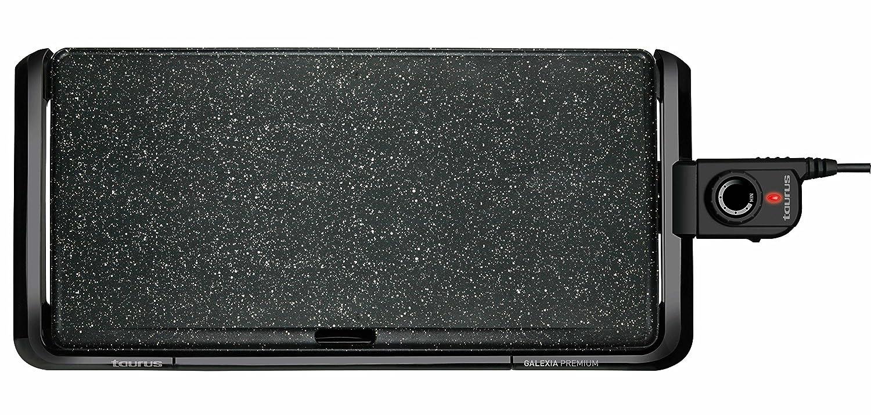 Taurus Galexia–Piastra per arrostire Lisa, 2500W, Vassoio per grassi, Termostato Regolabile 47,7 x 29 cm nero [Classe di efficienza energetica A] 968451
