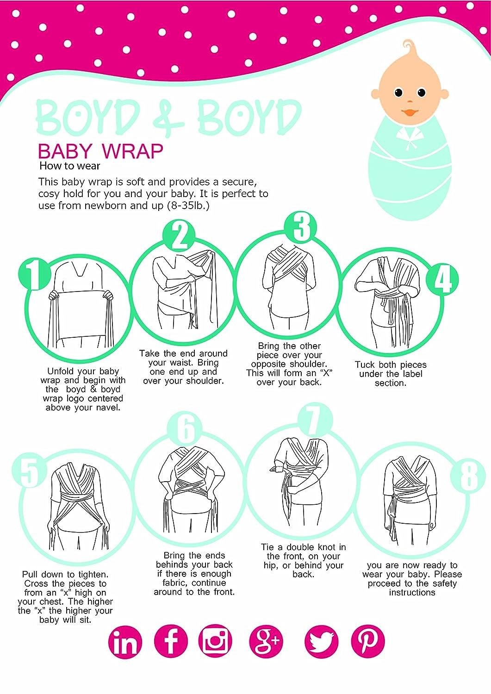 4 In 1 Boyd Boyd Best Soft Baby Sling Wrap Carrier Nursing
