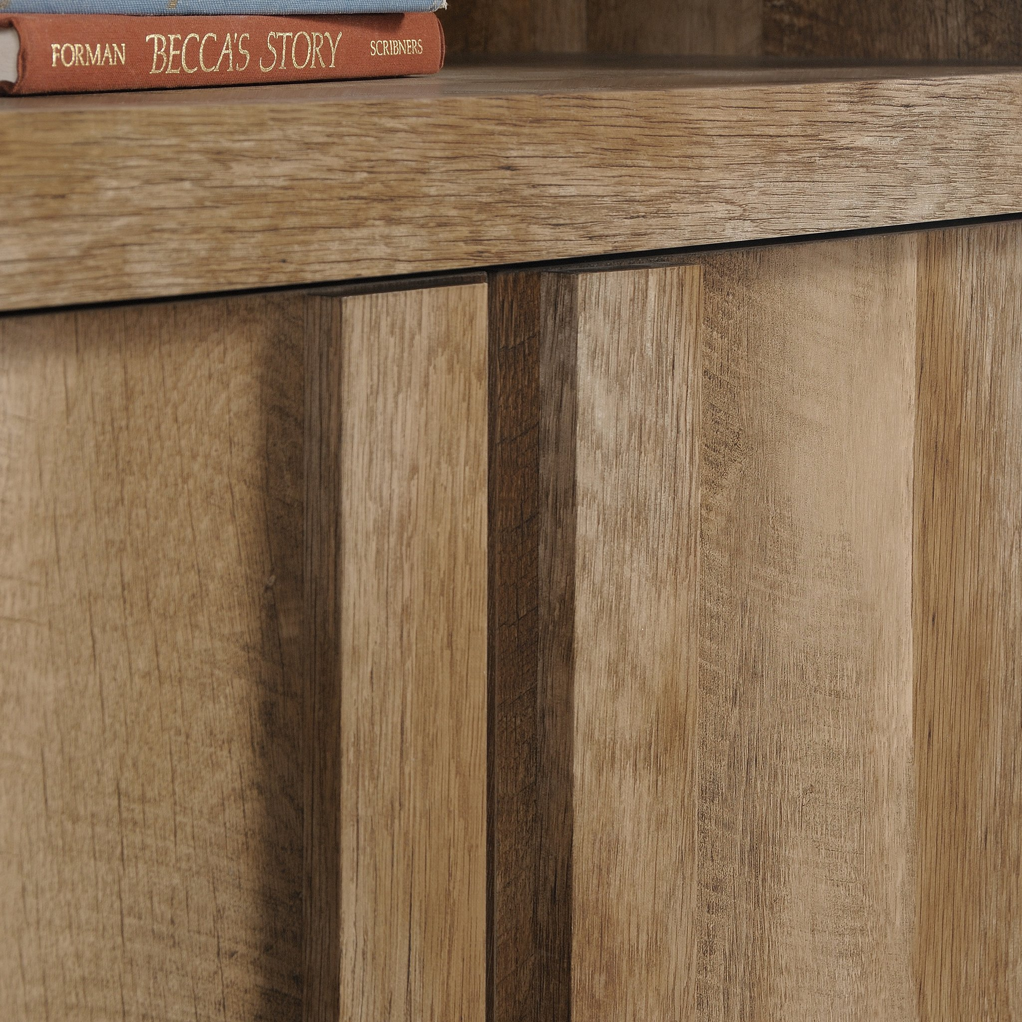 Sauder 420409 Dakota Pass Library with Doors, L: 33.82'' x W: 12.52'' x H: 71.10'', Craftsman Oak Finish by Sauder (Image #7)