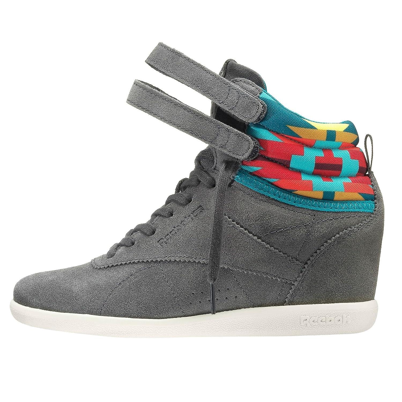 Amazon.com   Reebok Melody Ehsani X Freestyle HI INT Wedge Womens Classics    Fashion Sneakers