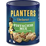 Planters Deluxe Pistachio Mix, Salted, 14.5 Ounce Canister