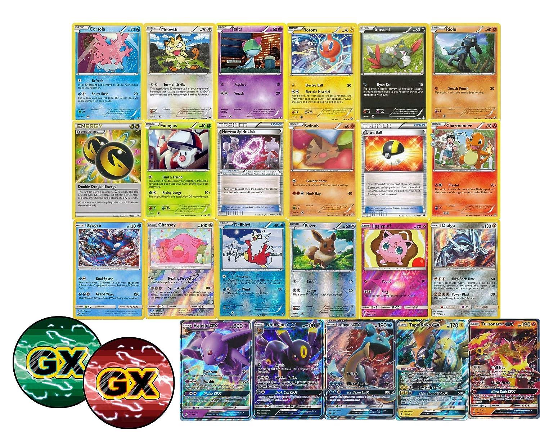 100 Pokemon Cards Including Rares Foils Plus A Gx Ultra Rare And Custom Gx Counter