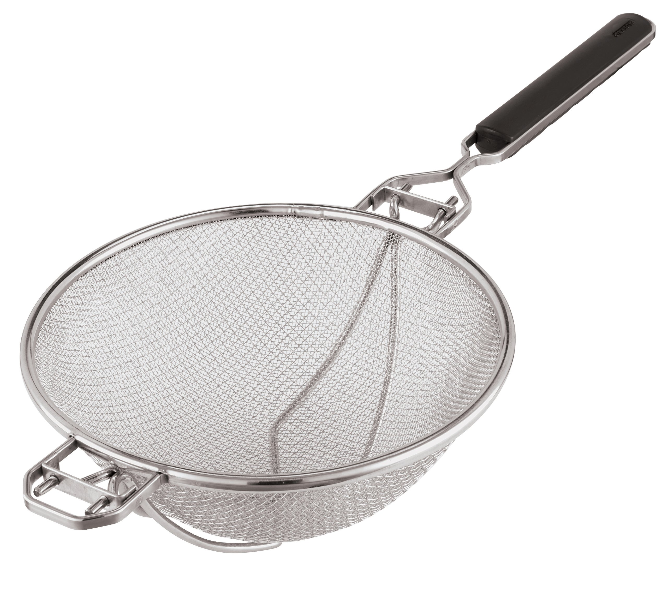 Paderno World Cuisine 13-3/4-Inch Stainless-steel Strainer with Reinforced Support