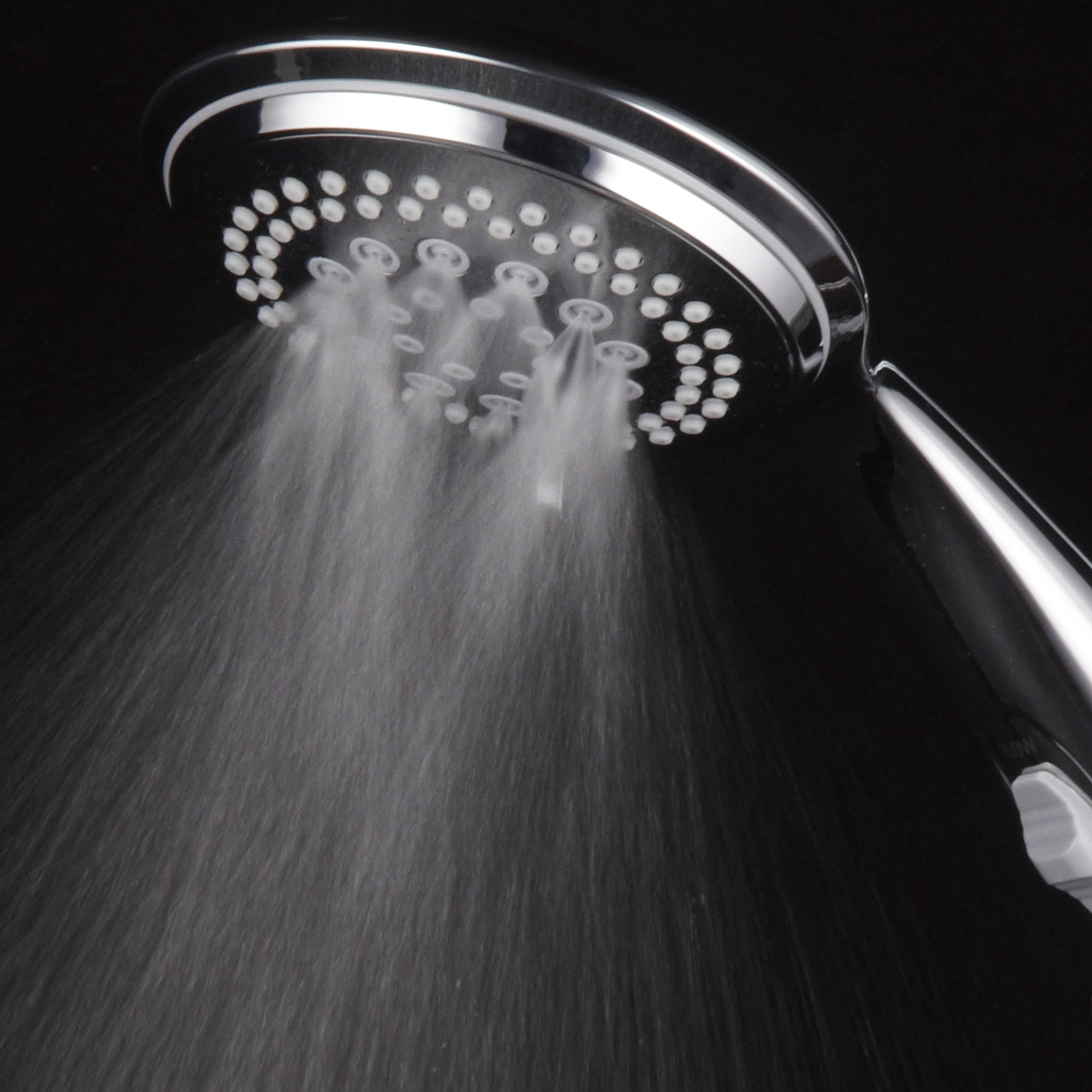 Dream Spa 1459 9-Setting High-Power Ultra-Luxury Handheld Shower Head with Patented ON / OFF Pause Switch and 5-7 foot Stretchable Stainless Steel Hose (Premium Chrome) Use as overhead or handshower by Dream Spa (Image #5)