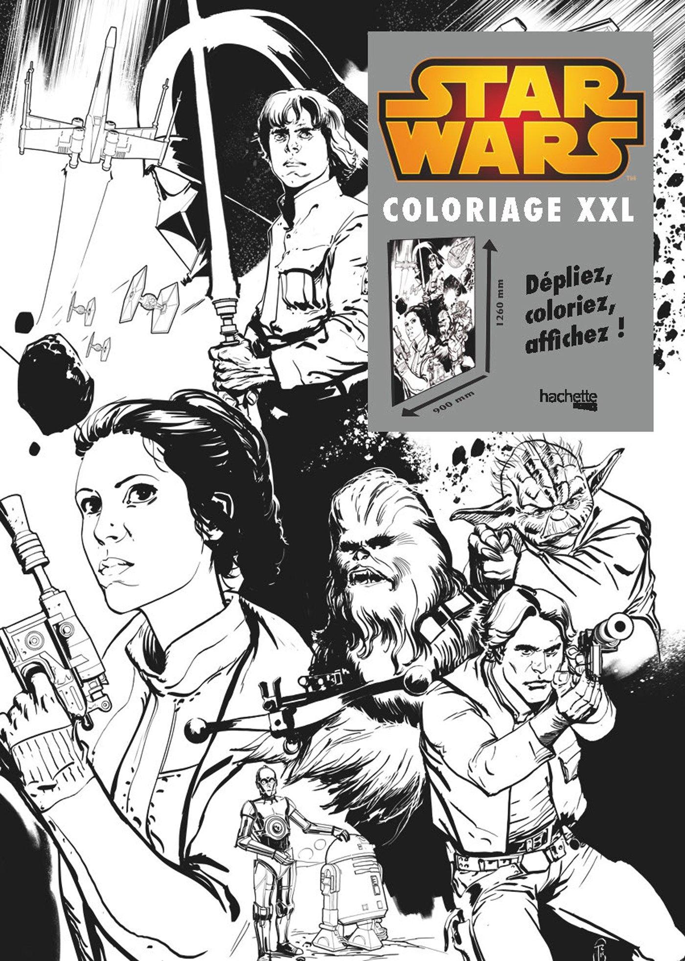 Stars Wars Rebellion Coloriage Xxl Heroes Toulhoat Ronan 9782012206274 Amazon Com Books
