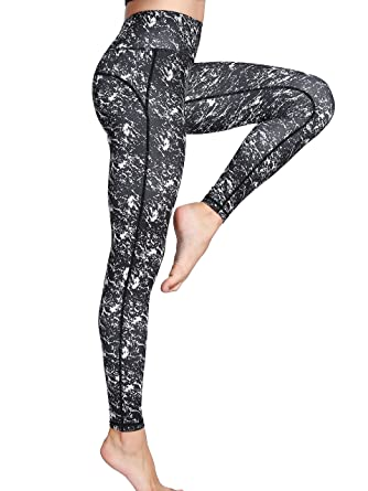 47c2ebe5b029e Women's Long Sports Leggings Running Tights High Waist Stretch Fitness Yoga  Pants(Black,S