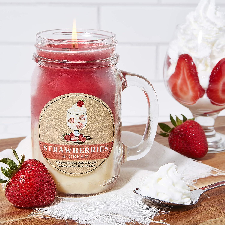 Cheesecake Very Berry Our Own Candle Company Bougie parfum/ée en cire de soja Grand pot 100 heures de combustion 12.5cm X 7cm X 10cm