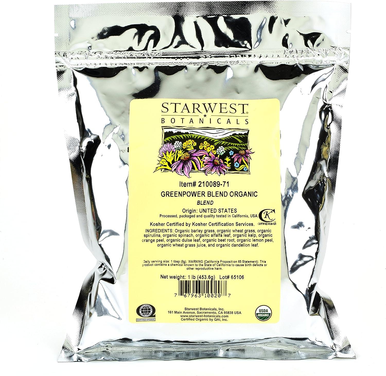 Starwest Botanicals Organic GreenPower Blend, 1 Pound