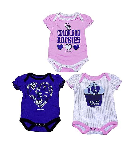 Amazon.com: Colorado Rockies Niñas recién nacido rosa y ...