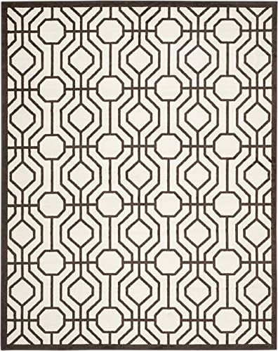 Safavieh Amherst Collection AMT416J Geometric Area Rug, 9 x 12 , Ivory Brown