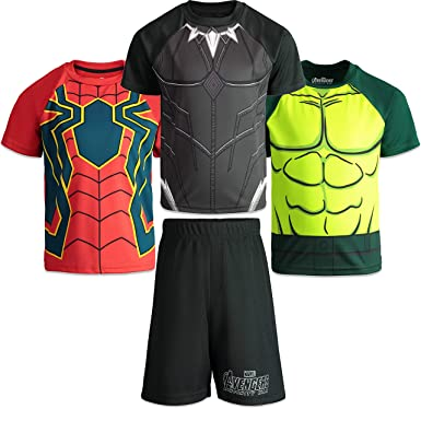 6f9b0dd1 Marvel Avengers Infinity War Boys 4 Piece Athletic T-Shirts & Mesh Shorts  Set 4