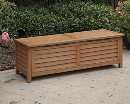 Home Styles 5661 25 Montego Bay Deck Box, Eucalyptus Finish