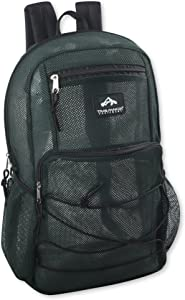 Trailmaker Sheer Mesh Backpack Deluxe with Bungee Cord & Adjustable Padded Back Straps