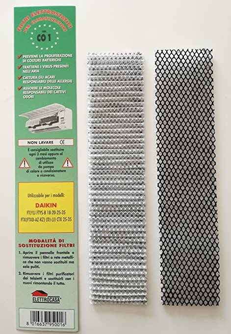 CO1 - 2 filtros electrostáticos para climatizador de aire ...