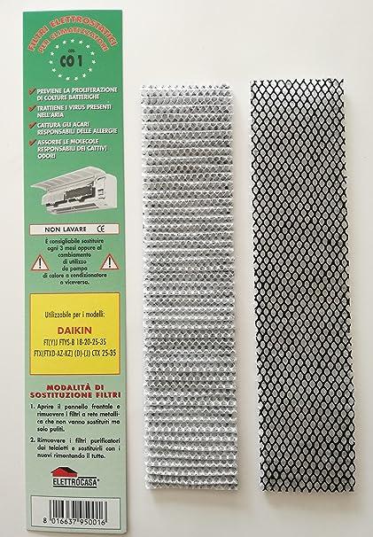 CO1 - 2 paquetes de filtros electrostáticos para climatizador de aire acondicionado Daikin FT (Y