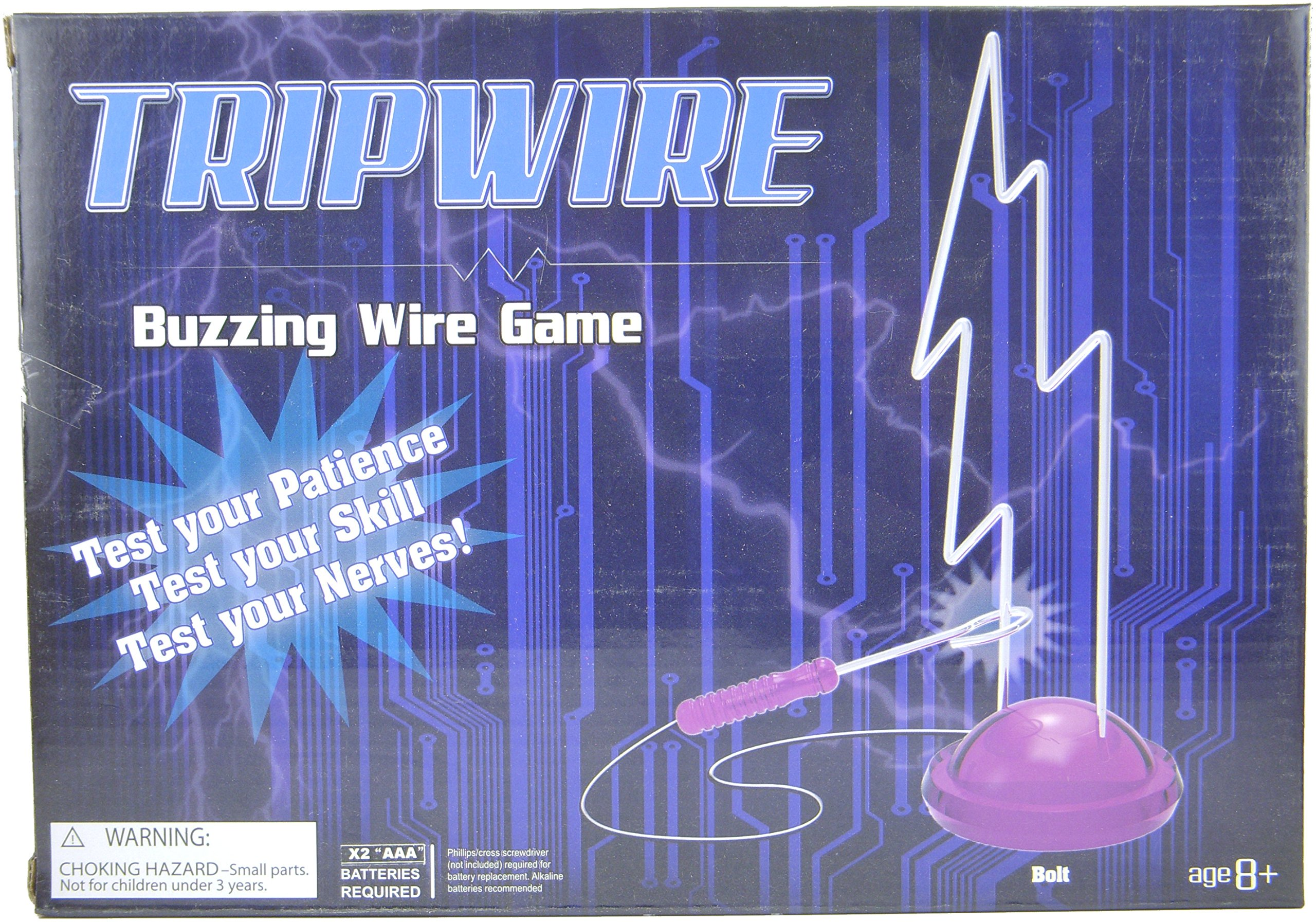 Tripwire Buzzing Wire Game Test Your Nerves and Don't Get Zapped (Bolt)
