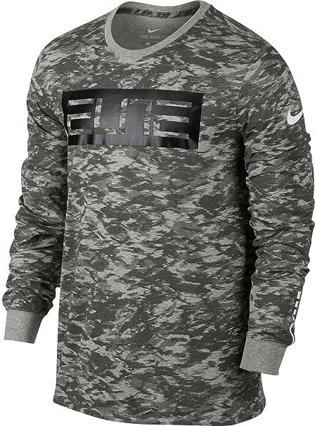 Nike Men\u0027s Dry Elite Basketball T-Shirt (Dk Grey Heather, ...
