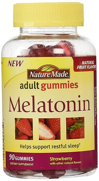Amazon.com: Gomitas de melatonina para adultos Nature Made ...