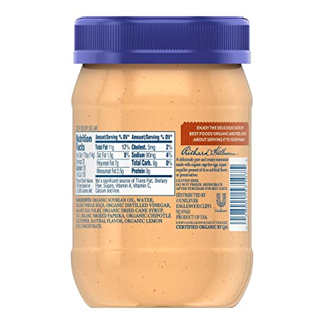 Amazon.com : Best Foods Mayonnaise, Organic Spicy Chipotle, 15 oz : Grocery & Gourmet Food
