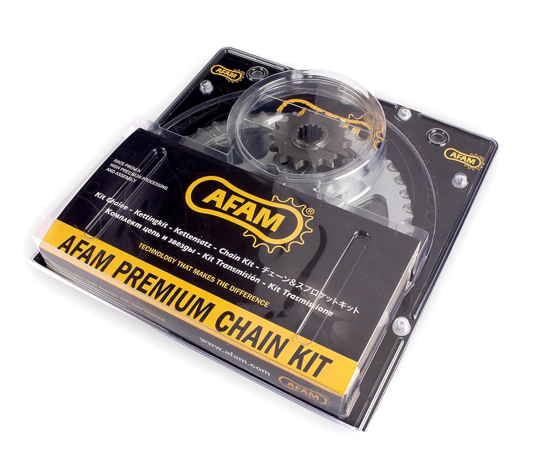 kit acier pour DERBI DRD 50 SM Senda Pro 2005-2014 Afam 04701643 Kit cha/îne de moto