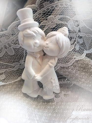 Segnaposto Matrimonio Gessetti.20 Gessetti Profumati Sposini Segnaposto Matrimonio Amazon It
