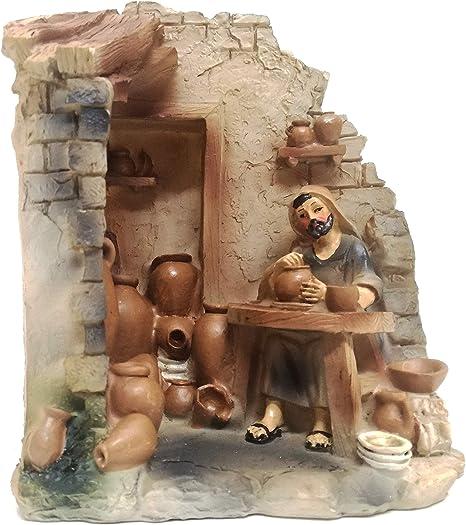 Presepe Mestieri Vasaio H 12 Personaggi Presepe Figure Presepe Statue Statuine Decorazione Presepe H cm 12 Creare Italia S.R.L