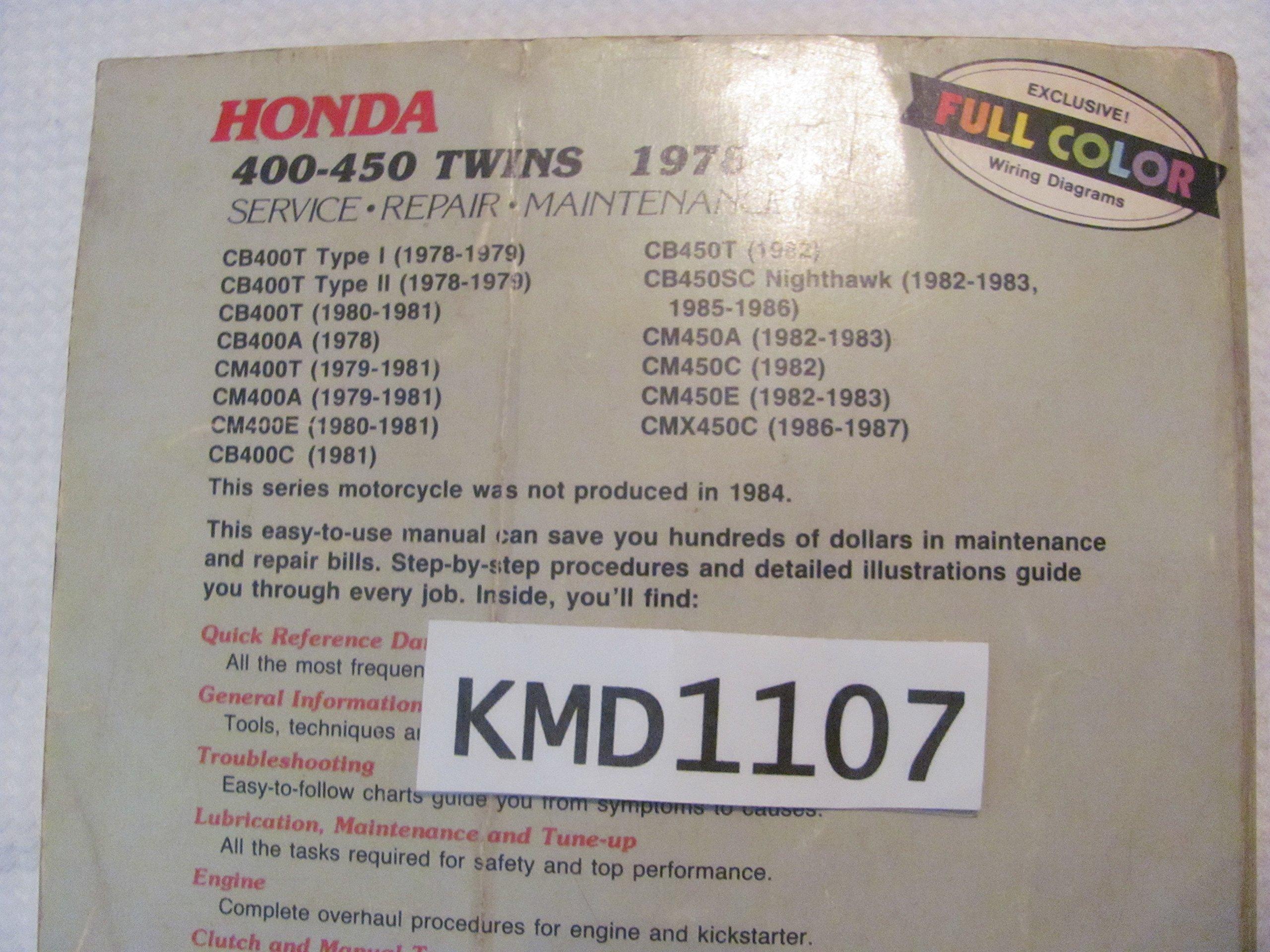 honda nighthawk workshop manual 1979 1987