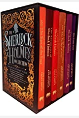 The Sherlock Holmes Collection 6 Books Box Set By Sir Arthur Conan Doyle (His Last Bow, The Memories of Sherlock Holmes, A Study in Scarlet and The Sign of The Four, The Adventures of Sherlock Holmes Hardcover