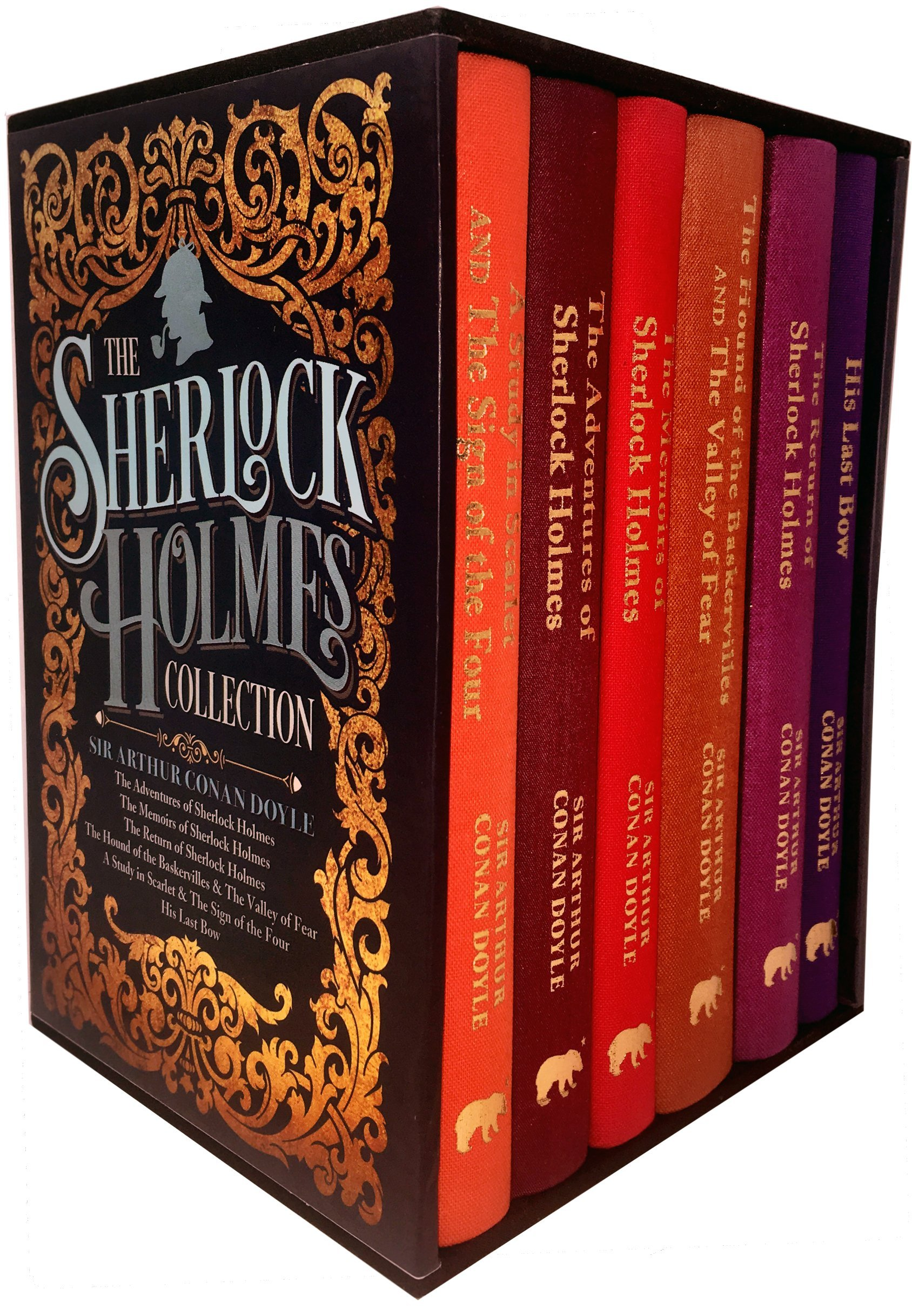 The Sherlock Holmes Collection 6 Books Box Set By Sir Arthur Conan Doyle  (His Last Bow, The Memories of Sherlock Holmes, A Study in Scarlet and The  Sign of The Four, The;  Mastermind Villain