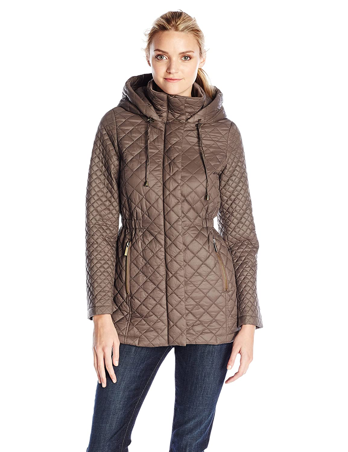 French Connection Women's Marykate Quilted Jacket with Hood French Connection Women' s Outerwear F36226-XB