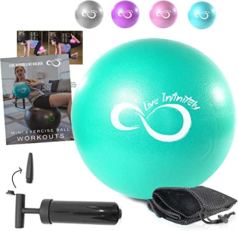 Live Infinitely 9 Inch Barre Pilates Ball & Hand Pump