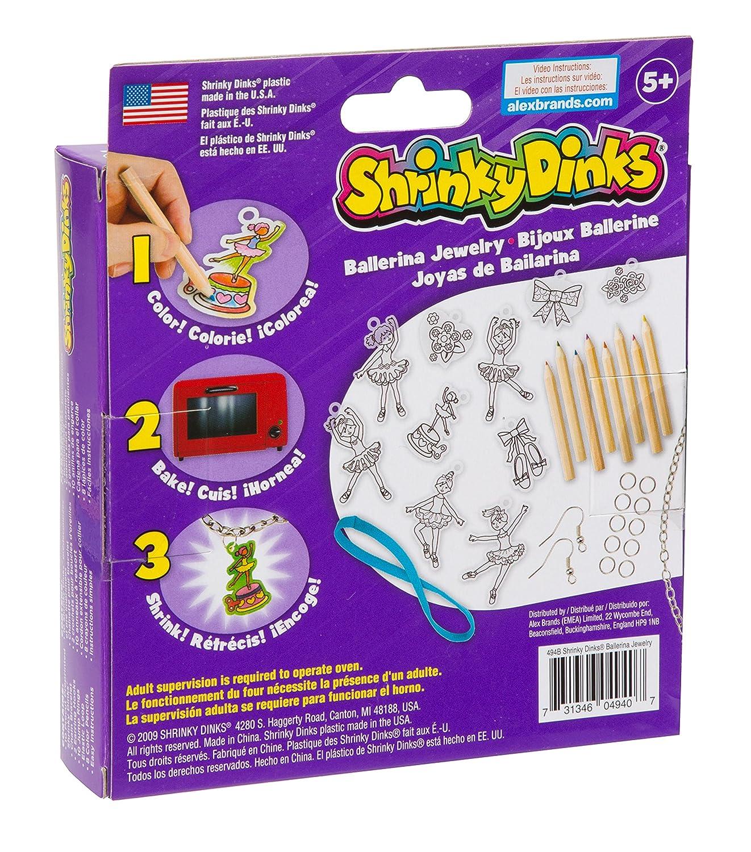 Shrinky Dinks Ballerina Jewelry 10 precut shrinky dinks 494B Alex NEW Ages 5+