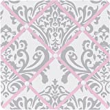 Sweet Jojo Designs Pink, Gray and White Elizabeth Fabric Memory/Memo Photo Bulletin Board