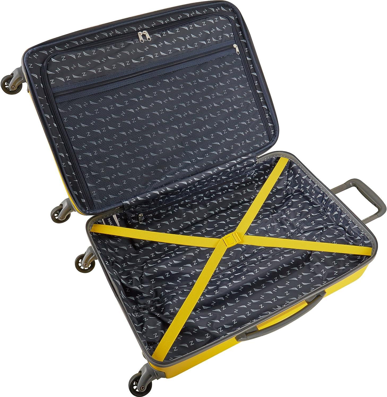 Yellow//Grey Nautica 3 Piece Hardside Spinner Luggage Suitcase Set One Size