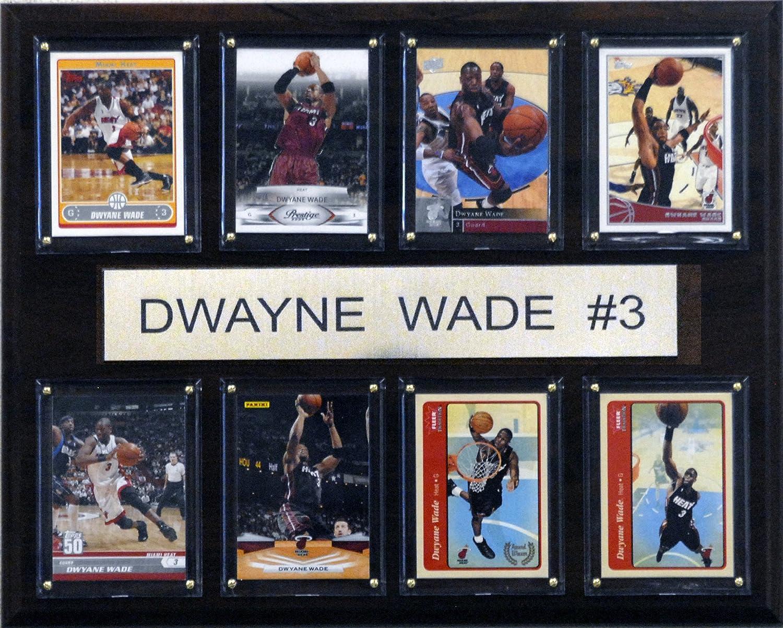 NBA Dwyane Wade Miami Heat 8 Card Plaque