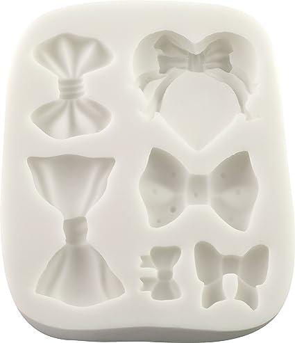 Molde de silicona | lazos por FPC molde de fondant, resina, cera