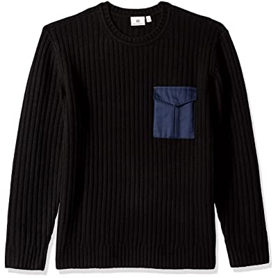 AG Adriano Goldschmied Men's Delta Woven Pocket Crew: Clothing