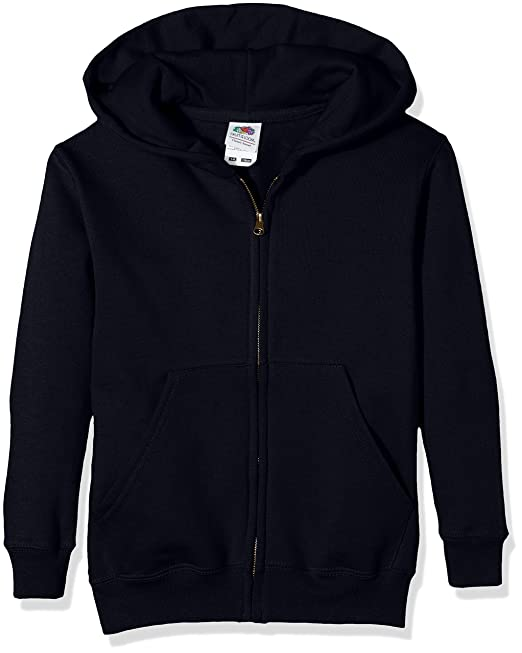 bc8a3471017 Fruit of the Loom Unisex Kids Zip front Classic Hooded Sweat  Amazon.co.uk   Clothing